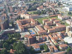 Bird's eye view of Piazza Don Giussani during the event 'Piazza dello Sport 2013'
