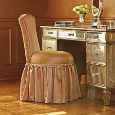 Reese Natural Skirted Vanity Chair Mother S Day Ideas