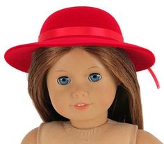 "Red #velvet #flocked derby hat made for 18"" #american girl doll clothes,  View more on the LINK: 	http://www.zeppy.io/product/gb/2/191705873773/"
