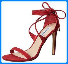 Steve Madden Presidnt Damen US 8 Rot Sandale - Zehentrenner für frauen (*Partner-Link)