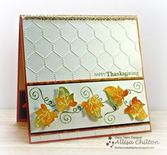 It is time for a new sketch this week at Freshly Made Sketches . The fun sketch this week is brought to us by Jen Mitchell. The sket. Fall Cards, Winter Cards, Holiday Cards, Thanksgiving Greetings, Thanksgiving Ideas, Embossed Cards, Get Well Cards, Heart Cards, Card Tags