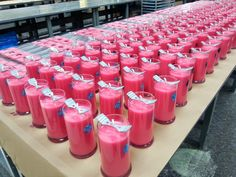 Freshly poured Watermelon candles and tarts! Get your #JICScentoftheMonth for 20% OFF this month only!!! #PrettyinPink #behindthescenes