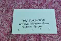 Calligraphy Envelope Addressing handmade by TwinkleCalligraphy Envelope Addressing, Calligraphy Envelope, Calligraphy Fonts, Lettering, Handmade Envelopes, Letter Art, Bar Mitzvah, Cards Against Humanity, Handmade Gifts