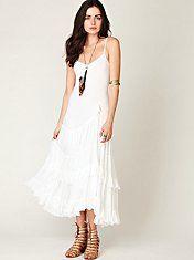 Free People Tracks of My Tiers Maxi Dress #freepeople #dress #fashion