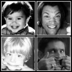 Jensen and Jared- then and now :)