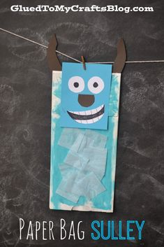 Paper Bag Sulley {Kid Craft}