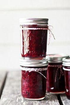 Sour cherry jam, refrigerator recipe, I love how this looks