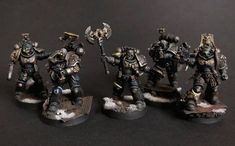 Warhammer 40K Plastic Blast Templates Deadwatch Overkill Black templar tyranid