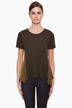 T By Alexander Wang Satin Drape T shirt, $110.00 | www.findbuy.co #TByAlexanderWang