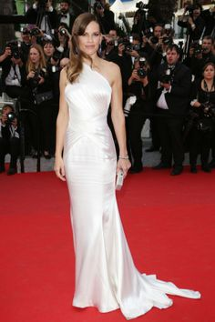 Hilary Swank In Atelier Versace At Cannes Film Festival 2014