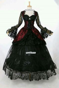 Stretch Gothic Victorian Kleid rot schwarz Cosplay Kostüm costume Maß i… Stretch Gothic Victorian Dress Red Black Cosplay Costume Costume Custom Made in Clothing & Accessories, Costumes & Costumes, Costumes Gothic Victorian Dresses, Gothic Dress, Lolita Dress, Gothic Lolita, Victorian Fashion, Victorian Vampire Costume, Gothic Girls, Vintage Fashion, Victorian Gothic Wedding