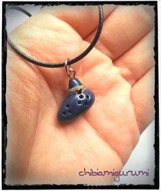 Ocarina necklace charm chibi in polymer clay by Chibiamigurumi, €5.95
