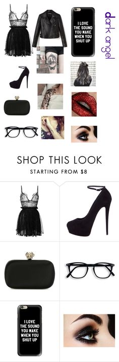 """""""Dark"""" by evanspam on Polyvore featuring Alexander McQueen, Giuseppe Zanotti and Casetify"""