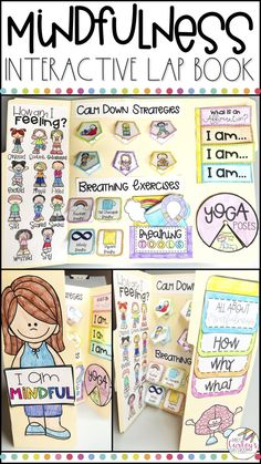 Mindfulness is KEY in elementary classrooms. Watch mindfulness TRANSFORM your classroom management this year! This mindfulness lap book teaches students mindfulness strategies for kids, breathing exer Teaching Mindfulness, Mindfulness For Kids, Mindfulness Activities, Yoga For Kids, Exercise For Kids, Kid Yoga, Meditation Music, Mindfulness Meditation, Mindfulness Quotes