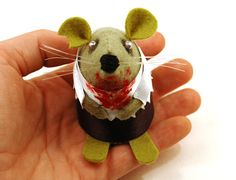 Halloween Ornament Zombie Mouse ornament by TheHouseOfMouse, £19.00