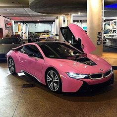 Cool BMW 2017: My car one day BMW i8 in pink...  Shades of PINK Check more at http://carsboard.pro/2017/2017/01/09/bmw-2017-my-car-one-day-bmw-i8-in-pink-shades-of-pink/ #luxurycars