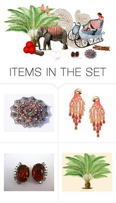 """""""FUN WITH MY ELEPHANT!"""" by zazaofcanada ❤ liked on Polyvore featuring art and vintage"""