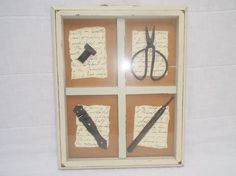 Decorative Framed Objects by Gem2theiVintage on Etsy