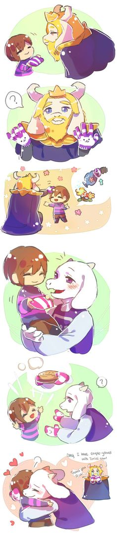 Undertale fanart - Toriel and Frisk memories of my child~