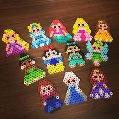Disney Princess perler beads by lalala_natsumi62