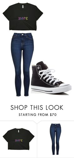"""Untitled #250"" by cruciangyul ❤ liked on Polyvore featuring Topshop and Converse"
