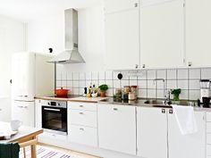 Köket i den gamla lägenheten som vi renoverade i originalstil.