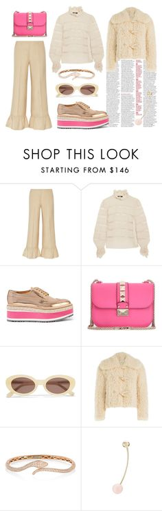 """""""Nude x Hot pink"""" by nadial ❤ liked on Polyvore featuring Gucci, Isabel Marant, Prada, Valentino, Elizabeth and James, Philosophy di Lorenzo Serafini, Anita Ko and Sophie Bille Brahe"""
