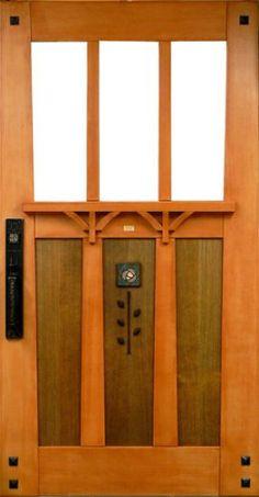 DIY bungalow entrance door. Wow!! Made of the finest vertical grain douglas fir.