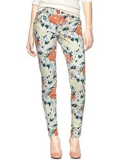 Tried these on yesterday and they're fantabulous.  Hoping they go on sale at some point...  1969 printed legging skimmer jeans | Gap