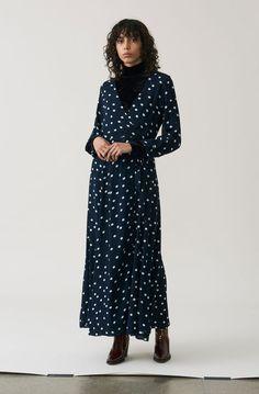 Marceau Georgette Maxi Dress, Total Eclipse