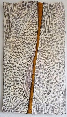 The Other Side of the River, Margaret Cooter (London, UK) textiles Art Fibres Textiles, Textile Fiber Art, Embroidery Art, Embroidery Stitches, Machine Embroidery, Map Quilt, Art Carte, Contemporary Quilts, Fabric Manipulation