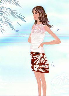 inspired by Christian Dior - Resort 2015 Collection | illustration by Masaki Ryo.