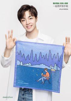 180524 Innisfree悦诗风吟 Weibo Update  Chen LiNong for Innisfree with PLAYGREEN handkerchief  #IdolProducer #偶像练习生 #NinePercent #百分九少年 #ChenLiNong #陈立农
