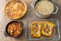 Batch cooking Automne #5 – Mois d'Octobre – Semaine 43 - Cuisine Addict Pumpkin Varieties, Mushroom Varieties, Halloween Food For Party, Batch Cooking, Pumpkin Spice Latte, Fall Recipes, Meal Prep, Food Porn, Nutrition