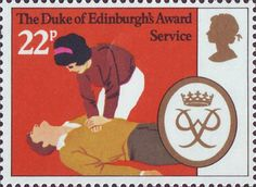 25th Anniversary of Duke of Edinburgh's Award Scheme 22p Stamp (1981) 'Service'