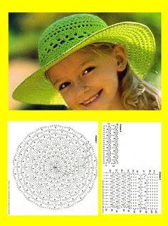 Crochet Summer Hat all in one – Pattern, Video, Chart Bonnet Crochet, Crochet Beanie Hat, Crochet Cap, Thread Crochet, Free Crochet, Scarf Hat, Crochet Summer Hats, Crochet Girls, Crochet For Kids
