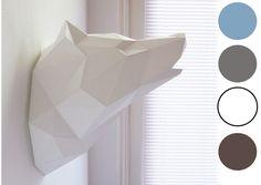 Trophée loup origami - Plusieurs coloris - 29€ - Les Esthètes
