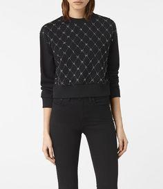 Wire Embellished Sweatshirt
