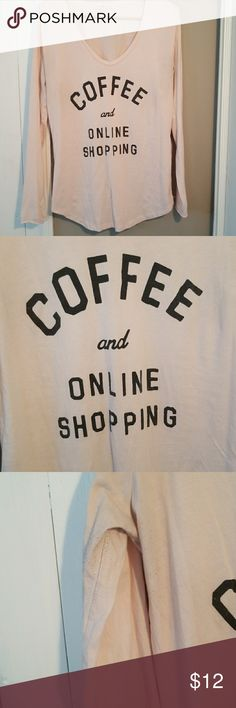 Online and Cofee Junkfood Tee Light pink, stretchy very comfy! There is a little pilling and light discoloration from being worn under a black jacket. Junk Food Clothing Tops Tees - Long Sleeve