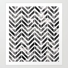 Brush Chevron Art Print by Emma Mazur - $18.00