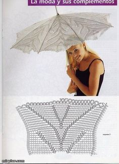 images attach c 5 87 196 Filet Crochet, Crochet Motifs, Crochet Diagram, Crochet Chart, Crochet Doilies, Crochet Lace, Crochet Bikini, Crochet Patterns, Lace Umbrella