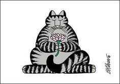 Zen Cat by B. Kliban
