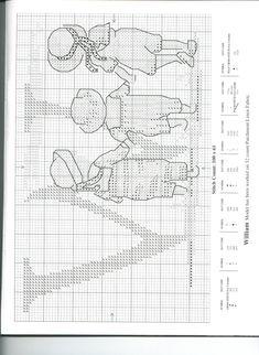 Schema punto croce Alfabeto Bimbi W