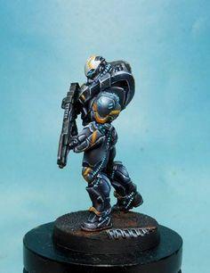 Studio Giraldez added a new photo. Corvus Belli Infinity, Infinity Models, Sculpture Art, Sculptures, Miniaturas Warhammer 40k, Infinity The Game, Sci Fi Miniatures, Sci Fi Armor, Sci Fi Characters