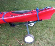 I have kayaks and carrying them from the car to the water's edge can be a problem, especially if you are alone. They are a bit awkward to carry. Commercial kayak ... Kayaking Gear, Kayak Camping, Canoe And Kayak, Kayak Fishing, Canoeing, Saltwater Fishing, Camping Ideas, Kayak Boats, Kayak Paddle