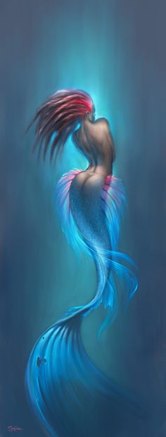 Mermaid Drawings And Paintings | The mermaid by ~satiiiva on deviantART