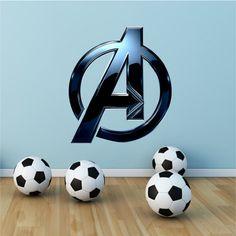 The Avengers Sign Logo Marvel Full Colour Wall Art Sticker Decal Mural Transfer
