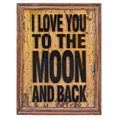 To the Moon and Back Framed Print....from our favorite night night story.