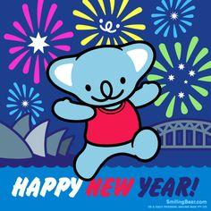 Happy New Year 2014 From Sydney, Australia! Animated GIF version here: http://smilingbear.com/blog/happy-new-year-2014-from-sydney-australia  #NewYear #2014 #NewYearsEve #smilingbear #smilemore #koala #koalabear #bear #smile #smiling #happy #cute #kawaii #australia #aussie #sydney #beach #manga #art #design #illustration #cartoon #characterdesign #fun #GIF #otaku #plush #iphonesia #kawaiigurls #kawaiioftheday