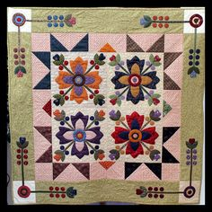 Whig Rose Quilt - designed by Kim Diehl Machine pieced, appliqued and quilted by Terri Morse  For lots more happenings around the studio, please visit me at my blog, Comfort Cottage, at www.terrimorse.typepad.com
